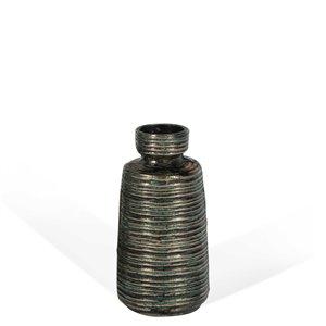 Vase décoratif en métal Makari Gild Design House, 11 po
