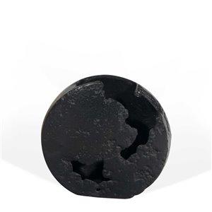 Gild Design House Atlas Small Decorative Metal Vase - Black - 8-in