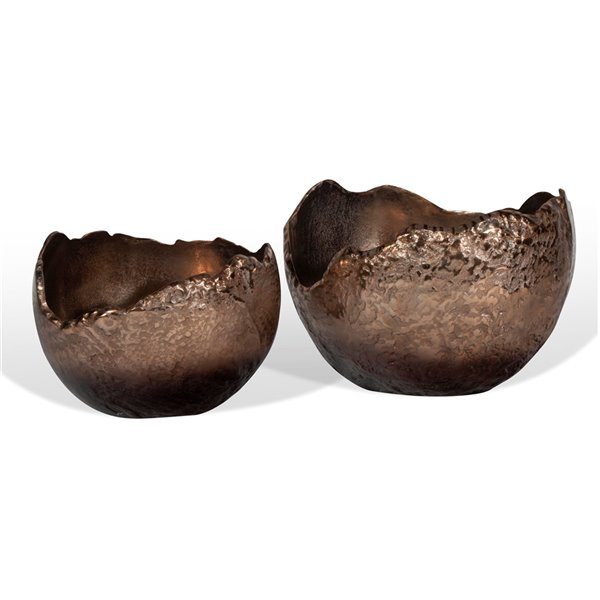 Gild Design House Terra Decorative Bowls - Copper/Bronze - 11-in - Set of 2