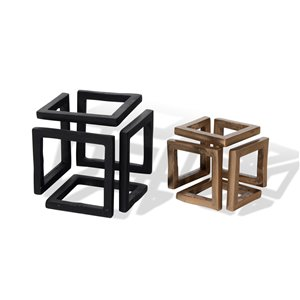 Gild Design House Ryker Decorative Cube Metal Accessory - Set of 2
