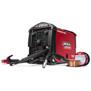 Lincoln Electric Power MIG 210 Multi-Process Welder - 230 V - 11-in x 19-in x 14-in