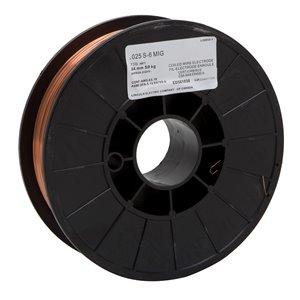 Fil S-6 MIG pour soudage Lincoln Electric, 0,025 po, 11 lb
