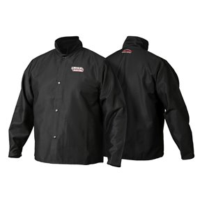 Lincoln Electric Red Line Traditional Flame Retardant Welding Jacket - Medium - Black