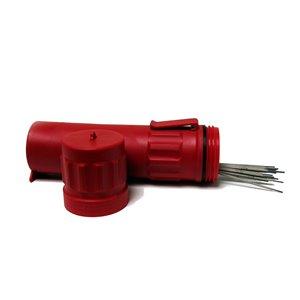 Récipient de stockage de baguette de soudage Lincoln Electric, polyéthylène, rouge