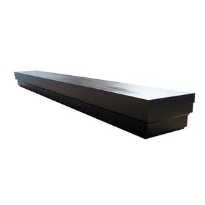 Elements Roman Contemporary Mantel Shelf for Fireplace - Expresso - 60-in