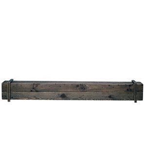 Elements Cavalli Rustic Mantel Shelf  Rustic  Earth-friendly - Brown and Black - 45-in