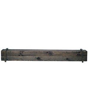 Tablette de manteau de cheminée Cavalli Rustique et écologique, brune, 45 po