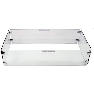 Pare-vent pour table/foyer Paramount rectangulaire, 42.5 po x 14.56 po
