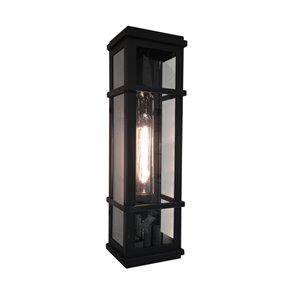 Luminaire extérieur Granger Square SC13112BK d'Artcraft Lighting, 5,25 po x 4,75 po x 20 po, noir