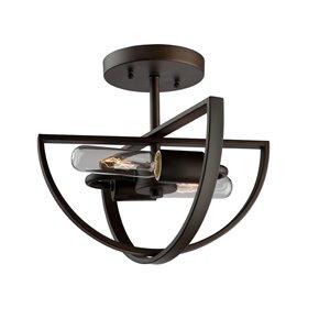 Semi-plafonnier Newport AC10882OB d'Artcraft Lighting, 12 po x 12 po x 10,5 po, bronze huilé