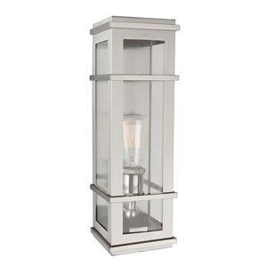 Luminaire extérieur Granger Square SC13111SS d'Artcraft Lighting, 4,75 po x 4,75 po x 16 po, acier inoxydable