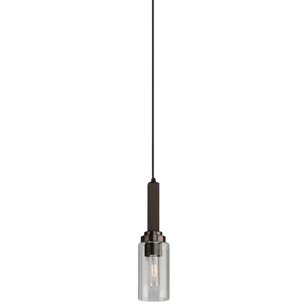 Luminaire suspendu Home Glow AC10861BU d'Artcraft Lighting, 4,5 po x 14,5 po, brun