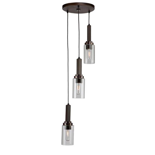 Luminaire suspendu Home Glow AC10863BU d'Artcraft Lighting, 10 po x 17 po, brun