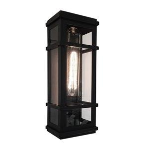 Luminaire extérieur Granger Square SC13111BK d'Artcraft Lighting, 4,25 po x 5,25 po x 16 po, noir