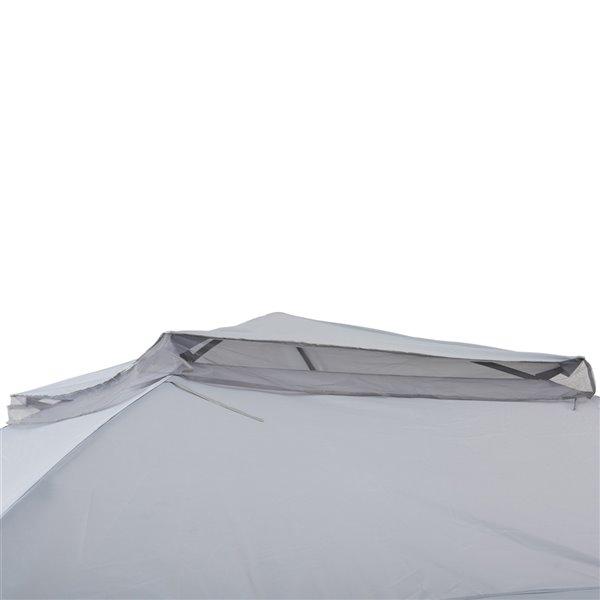 Sunjoy Pop-Up Steel Gazebo - Square - Polyester Top - 10.8-ft x 10.8-ft - Grey