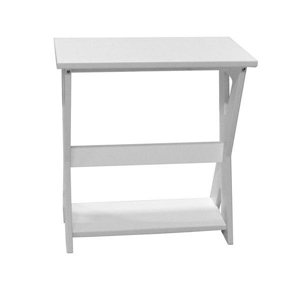 Table d'appoint extérieur My Custom Sports Chair, blanc
