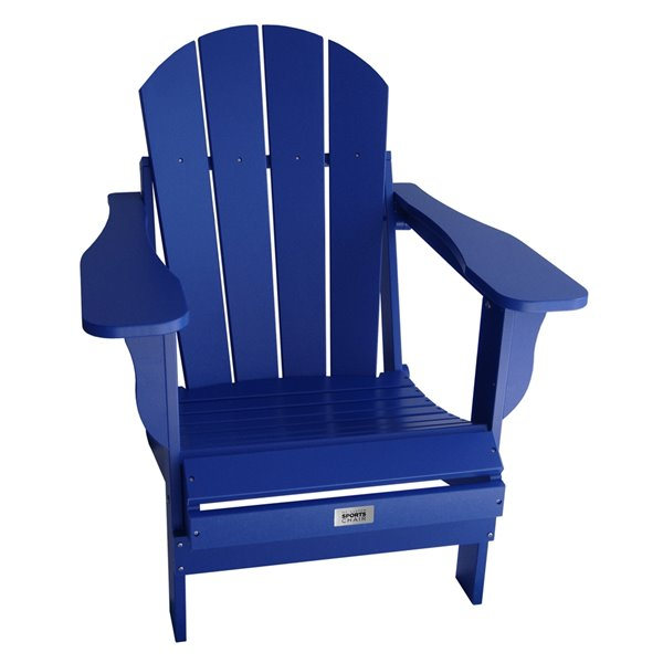 Chaise Adirondack pliante pour adulte My Custom Sports Chair, bleu