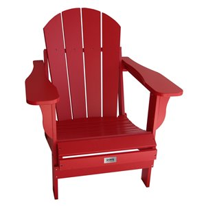 My Custom Sports Chair Adult Folding Adirondack Chair - Red