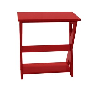 My Custom Sports Chair Outdoor End Table - Red