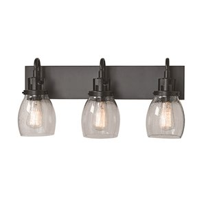 Russell Lighting Dayton Vanity 3-Light Wall Sconce - Java Gold - 11-in x 22-in