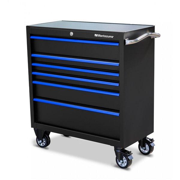 Coffre à outils Montezuma pour garage à 6 tiroirs, 36 po x 18 po
