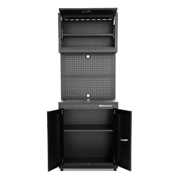 Montezuma Garage Workstation 3-Door and 1-Drawer - Black - 30-in x 18-in