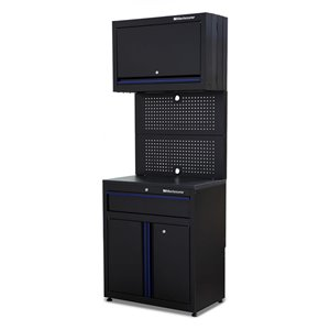 Montezuma Garage Workstation 1-Drawer and 3-Door - Black - 30-in x 18-in