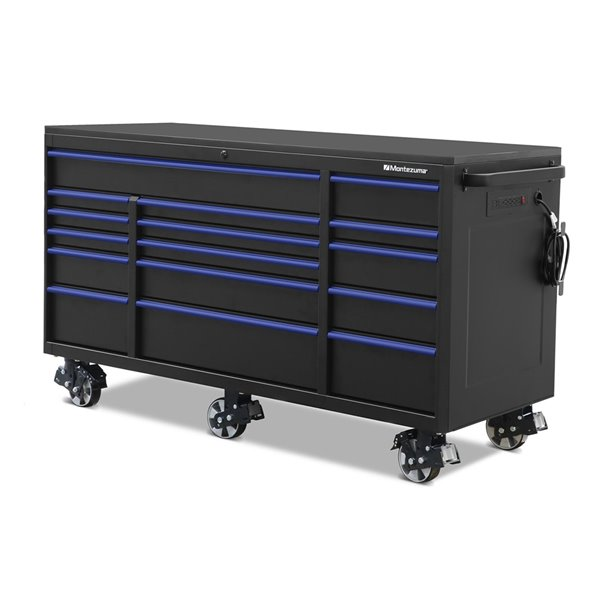 Montezuma Garage Tool Cabinet 16 Drawer, 72 Tool Cabinet