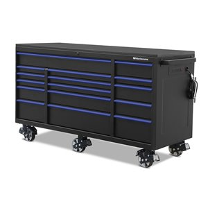 Montezuma Garage Tool Cabinet 16-Drawer - 4 Power and 2 USB outlets - 72-in x 30-in