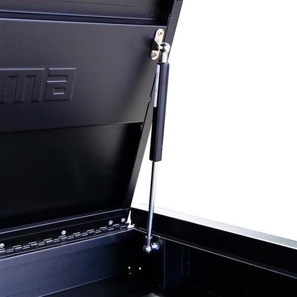 Armoire à outils pour garage Montezuma à 8 tiroirs, noir et bleu,  36 po x 18 po