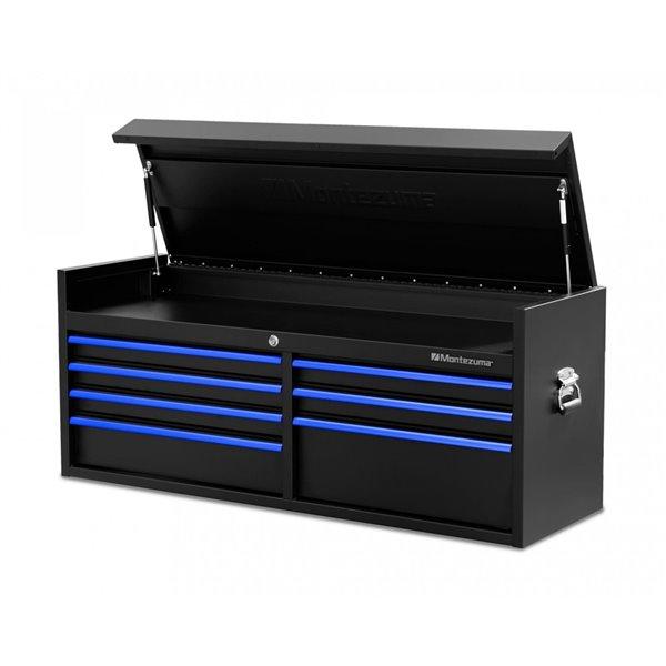 Armoire rangement à outils Montezuma pour garage à 7 tiroirs, 56 po x 18 po