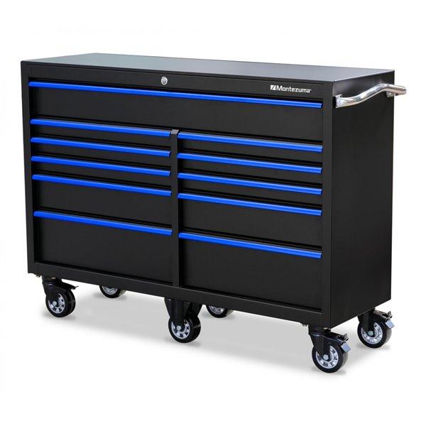 Coffre à outils Montezuma pour garage à 11 tiroirs, 56 po x 18 po