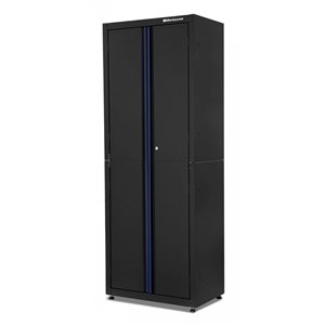 Montezuma Garage Tall Cabinet - 2-Door - Black - 30.5-in x 18-in x 81-in