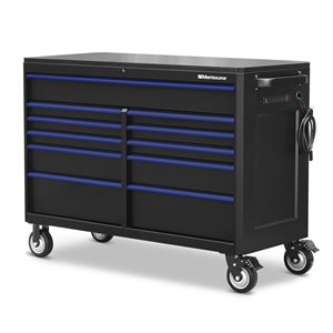 Montezuma Cabinet Tool Chest with Power and USB Outlets 11-Drawer - 56-in x 24-in