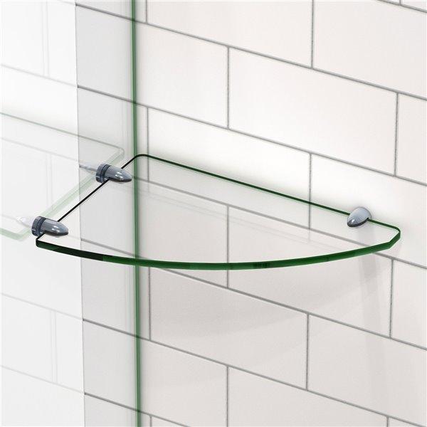 DreamLine Corner Glass Shelf for Shower - Oil Rubbed Bronze - 12-in x 8-in