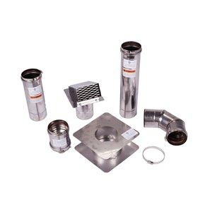 Ensemble de ventilation horizontal pour gaz chauffe-eau 4 po Z-Vent