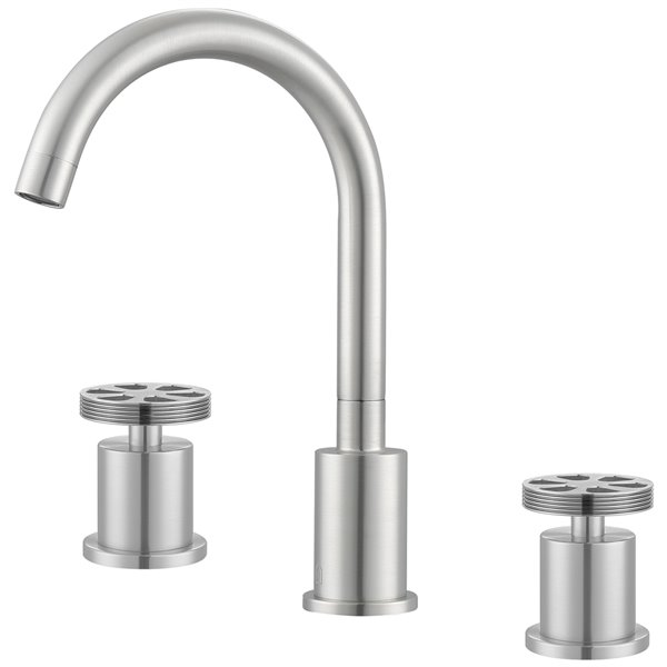 Ancona Nova Series Widespread Bathroom Faucet in Brushed Nickel finish