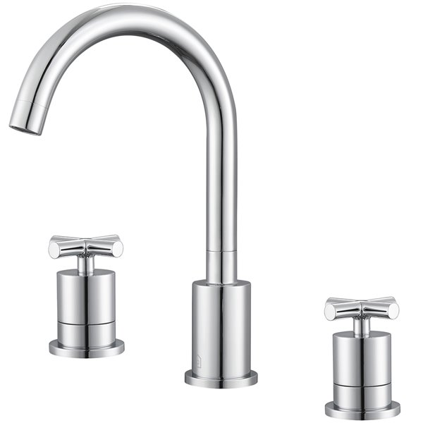Ancona Ava Series Widespread Cross Handle Bathroom Faucet in Chrome finish