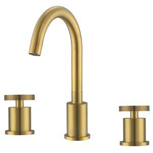 Robinet de salle de bain à poignées détachées de la gamme Nova Ancona, or brossé