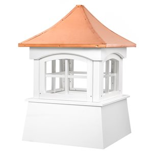 Good Directions Windsor Vinyl Cupola with Copper Roof - 22-in x 32-in - White