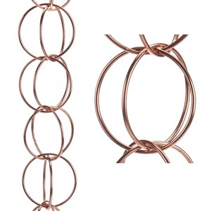 Good Directions Double Link Rain Chain - 8.5-ft - Pure Copper