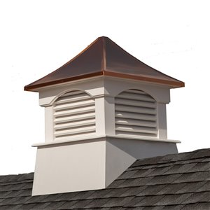 Good Directions Coventry Vinyl Cupola with Copper Roof - 18-in x 24-in - White