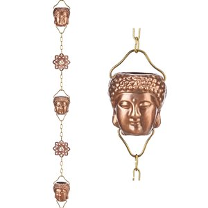 Good Directions Buddha Rain Chain - 8.5-ft - Pure Copper