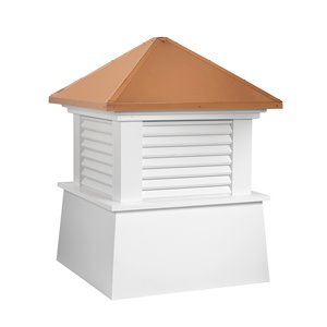 Good Directions Manchester Vinyl Cupola with Copper Roof - 22-in x 27-in - White