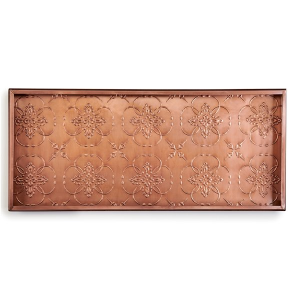 Good Directions Medallions Boot Tray - 13-in x 30-in x 2-in - Copper