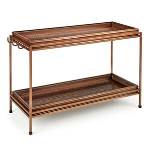 Good Directions Squares Double Boot Tray with Stand - 16.5-in x 24-in - Copper