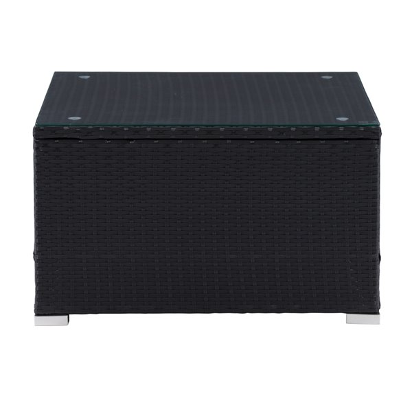 CorLiving Parksville Patio Coffee Table - 28-in - Black