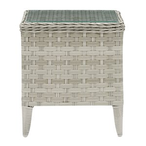 CorLiving Parksview Square Patio Coffee Table - 18-in x 18-in - Grey/Beige