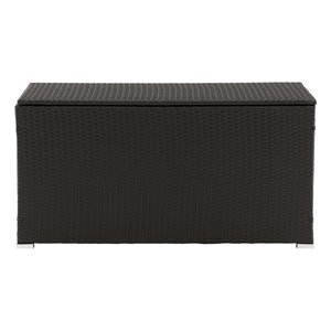 CorLiving Parksville Patio Cushion Box - 21-in x 46-in - Black