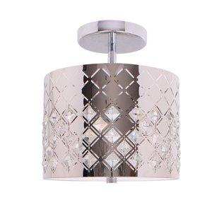 Beldi Marsala Collection 2-Light Semi Flush Mount Light - Chrome